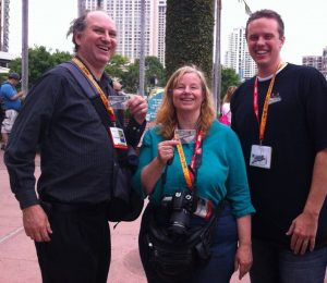 Corey Cole, Lori Cole, and Chris Pope at SDCC 2012
